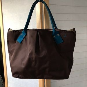 f48bdee4d57 Agnes B. Agnes b voyager tote bag in blue & brown nylon